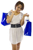 Asian female with shopping bags — 图库照片