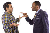 Two men arguing — Stock Photo