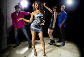 People dancing in nightclub — Stock Photo