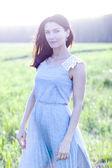 Kadın elbisesi daimi bir alanda — Stok fotoğraf