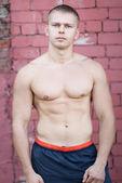 Topless bodybuilder — Stock fotografie