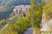 Panorama of Calcata, Italy. — Stockfoto