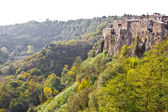 Panorama of Calcata, Italy. — Foto de Stock