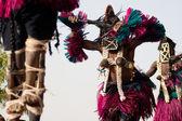 Female mask and the Dogon dance, Mali. — Stock Photo