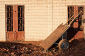 Humble handcart parked — Stock Photo