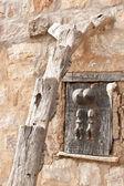 Typical Dogon ladder, Mali (Africa). — Stock Photo