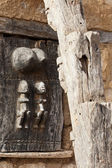 Typical door of Dogon granary, Mali (Africa). — Stock Photo