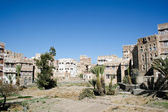 Pola w starym mieście sanaa, Jemen. — Zdjęcie stockowe
