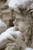 Detail of Trevi Fountain in Rome. — Stock Photo