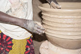 Hands of an artisan at working, Kalabougou, Mali, Africa. — Stock Photo