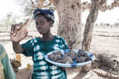 Vendors along the way, Mali, Africa. — Stock Photo