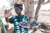 Vendors along the way, Mali, Africa. — Stock Photo