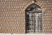 Traditional door, Timbuktu. — Stock Photo