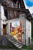 The murals of Cibiana, Italy. — Stock Photo