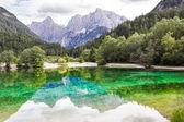 Lake Jasna near Kranjska Gora, Slovenia. — Stock Photo