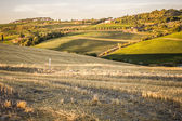 Tuscan countryside at sunset near Montepulciano — Stock Photo