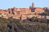 Panorama of old town of Montepulciano — Stock Photo