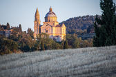 San Biagio church at sunset outside Montepulciano, Tuscany, Ital — Stock Photo