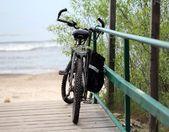 Cykel vid havet — Stockfoto