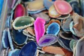 Colored Agate Slabs — Stock Photo