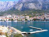 Water polo playground in Makarska — Stock Photo