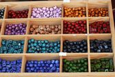 Colored ceramic beads — Stock Photo