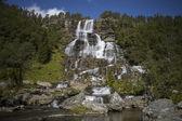 Tvindefossen Waterfall — Stock Photo