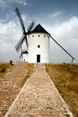 Landscape with two old windmills  — Stock Photo