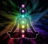 Chakra Meditation Diagram — Stock Photo