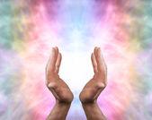 Beautiful Angel healing energy — Stock Photo