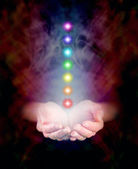 Sensing Chakra Healing Energy — Stock Photo