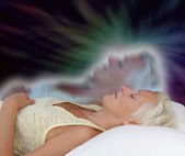 Female Astral Projection Experience — Stock Photo