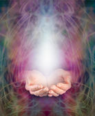 Healing Hands and energy manifestation — Stock Photo