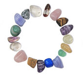 Circular border of healing crystals — Stock Photo