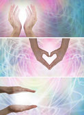 Colour Healing Banners x 3 — Stock Photo