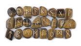 Full Set of Rune Stones — Stock Photo