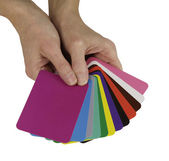 Color Diagnosis Therapy Cards — Stock Photo