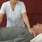 Therapist Giving Polarity Treatment — Stock Photo #50341503