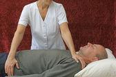 Therapist Giving Polarity Treatment — Stock Photo