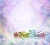 Cosmic Healing Crystals — Stock Photo