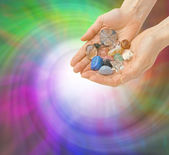 Crystal Healer and Energy Vortex — Stock Photo