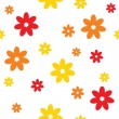 Flowers seamless texture — Stock Vector