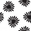 Black and white floral seamless — Stock Vector #47481089