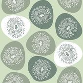 Seamless texture dandelion — Stock Vector