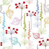 Seamless floral pattern for your design — Stock Vector