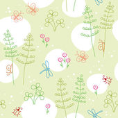 Spring seamless background — Stock Vector