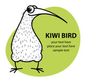 Cartoon kiwi bird with egg — Stock Vector