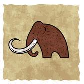 Cartoon mammoth — Stock Vector