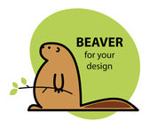A cartoon beaver. — Stock Vector