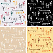 Seamless zoo pattern — Stock Vector